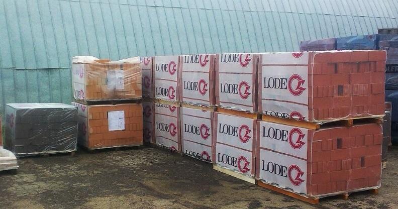 Новое поступление облицовочного и печного кирпича Лоде уже в Минске